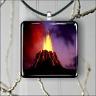 VOLCANIC ERUPTION LAVA IN THE NIGHT #2 PENDANT NECKLACE 3 SIZES CHOICE -dbw3Z
