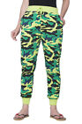 Clifton Womens Army Ribbed Slimfit Trackpant-Lime Green