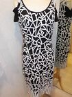 Tia Black/White Print Detail Dress 78966