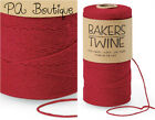 Cherry Red 4-ply 100% Cotton Baker's Twine *Your Choice of Length*
