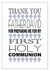 PERSONALISED THANK YOU FOR PREPARING ME US FOR FIRST HOLY COMMUNION 1ST MULTI