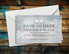 SAVE THE DATE MAGNETS Personalised Vintage Rings Wedding Magnets with Envelopes