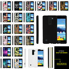 For LG K8V | LG K8 V | LG VS500 Hard Snap On Case Unique Designs + Stylus Pen
