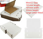 100xC7/Mini Size Large Letter Cardboard Postal Box RoyalMail PIP 101x101x22mm UK