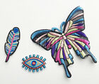 Feather Eye Butterfly Hippie Bohemian Style Iron Sew On Patch Craft Applique