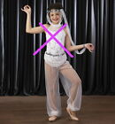 Kyпить White HAREM PANT ONLY Costume w/Headdress Genie Halloween Dance Adult Sizes на еВаy.соm
