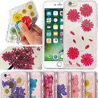 For Apple iPhone 7 Case Real Dried Flowers Fashion Cover For iPhone 8 Plus 6s 5