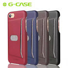 G-CASE Microfiber Phone Case for iPhone 7/ 7 Plus Shockproof Card Slot Cover