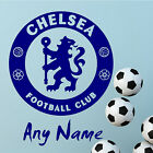 CHELSEA FC Football Wall Stickers Wall Art Decal PERSONALISED NAME STICKER N77