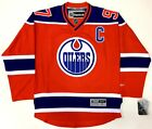 CONNOR MCDAVID EDMONTON OILERS REEBOK PREMIER ALTERNATE ORANGE JERSEY NEW W C