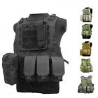 Tactical Military SWAT Police Airsoft Molle Combat Plate Carrier Vest w/ Pouches