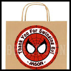 Spiderman Mask Birthday Party Favor Bag STICKERS Personalized Labels Spider Man