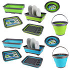 COLLAPSIBLE SILICONE SPACE SAVING DISH DRAINER WASHING UP BOWL BUCKET CAMPING