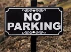 NO PARKING Lawn Sign - Permanently Laser Engraved - FREE SHIPPING