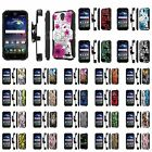 ZTE [Grand X3] [Warp 7] Armor Case [Kickstand] [Holster] [Screen Protector] - D