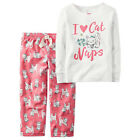 CARTER'S Girl's Pajamas Size 24 months I LOVE CAT NAPS Sleep Set PJs 2 Piece NEW