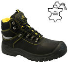 MENS AMBLERS LEATHER SAFETY BOOTS STEEL TOE CAP ANKLE HIKER WORK SHOES SIZE UK