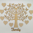 Wooden MDF Tree Set inc. 12 free hearts and Family word - Craft Blank Shape