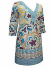 ** WHITE STUFF ** COTTON PRINT V NECK TUNIC / KAFTAN TOP/ BEACH DRESS * NEW *-