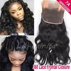 Pre Plucked Straight/Wavy 7A Virgin Human Hair 360 Lace Band Frontal Closure F40