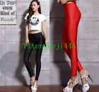 Sexylady  Shiny Disco Dance Leggings Fluorescent High Waisted Stretchy Pants New
