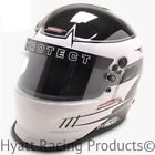 Pyrotect Pro Airflow Duckbill Auto Racing Helmet SA2015 - White Rebel Graphic