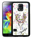 PERSONALIZED RUBBER CASE FOR SAMSUNG NOTE 3 4 5 BONE COLLECTOR DEER SKULL FLOWER