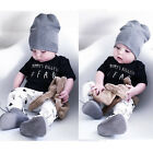 Newborn Toddler Baby Boy Clothes T-shirt Tops+Pants Summer Outfit Set 0-24M