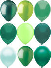 """YOUR CHOICE! 25ct. Green 11"""" Latex Party Balloons Teal Hunter Light Dark Lime"""