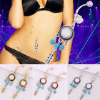 Boho Gypsy Turquoise Dreamcatcher Belly Button Ring Navel Piercing Jewelry