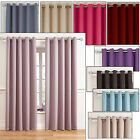 Woven Blackout Soft Ring Top Curtains - Block out the LIGHT, NEW 13 Colours