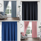 Woven Blackout Soft Pencil Pleat Curtains - Block out the LIGHT, NEW 13 Colours