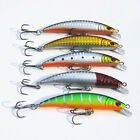 Fishing Bass Lures Diving Crankbait Minnow Treble Tackle Hook Baits 8cm Hot sell