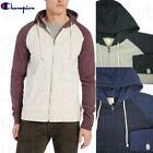 NEW MEN'S CHAMPION FRENCH TERRY CONTRAST RAGLAN SLEEVE ZIP FRONT HOODIE VARIETY!