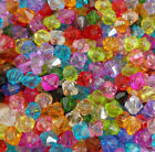 100/500PCs Mixed Acrylic Faceted Bicone Spacer Beads For Jewelry Making 6mm NEW