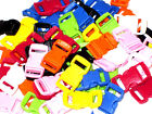 """50 100 Colored 3/8"""" Curved Side Release Buckles Webbing Straps For Paracord"""