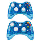 NEW Wireless Controller Gamepad For Microsoft Xbox 360 Slim&PC Afterglow Blue