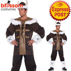 K314 Viking Costume Mens Nordic Medieval Warrior Fancy Dress Up Barbarian Outfit