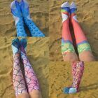 Novelty 3D Mermaid Tail Lady Girl Soft Knee High Boot Long S