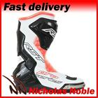 RST PRO SERIES 1503 Flo Red White Black CE CERTIFIED SPORTS PRO RACE BOOTS
