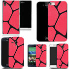hard slim case cover for many mobiles  - red blocked pattern