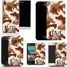 PERSONALISED INITIALS CASE FOR HTC MOBILES - desert cammy MONOGRAM