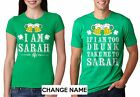 Funny Custom Couple St Patrick T-shirts Saint Paddy T-shirts