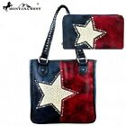 Montana West Patriotic Lonestar Navy Concealed Carry Tote Bag W/Free Wallet!