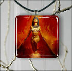 EGYPTIAN  PRIESTESS AT HELL'S DOOR PENDANT NECKLACE 3 SIZES CHOICE -ght5Z