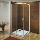 Aica Corner Entry Shower Enclosure & Tray Sliding Door Glass Cubicle 760 800 900