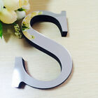 3D Acrylic Mirror DIY Wall Stickers English Letters Home Decoration Wall Decals