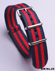 ( 18 20 22 )MM Nylon Watch band strap  watch strap 3blue-2red