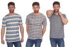 Mens Cargo Bay Stripe Printed Crew Neck T-Shirt - 3 Colours