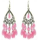 JC035 Wholesale Lots Chandelier Earrings Sheer Water Drop Bead You Pick Quantity